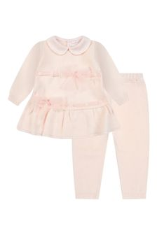 Bimbalo Baby Girls Pink Cotton Set