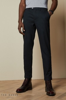Ted Baker Blue Sarikar Semi Plain Trousers