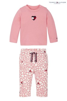 Tommy Hilfiger Pink Baby Printed Long Sleeve Set