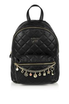 Guess Girls Black Logo Backpack