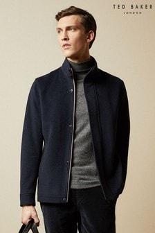 Ted Baker Anglo Wool Blend Funnel Neck Jacket