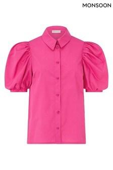 Monsoon Pink Harley Plain Cotton Shirt