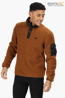 Regatta Brown Cormac Half Button Fleece