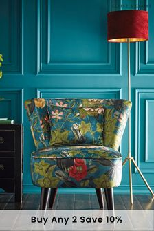 Passiflora Kingfisher Lexi Chair by Clarke & Clarke