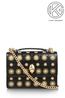 Kurt Geiger London Gold Disc Shoreditch Cross Body Bag