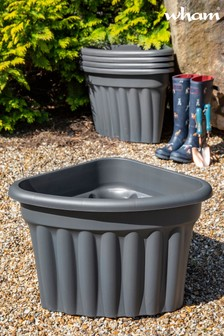 Set of 5 Vista 40cm Corner Garden Planters by Wham