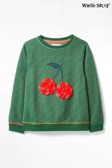 White Stuff Kids Cherry Glitter Sweater
