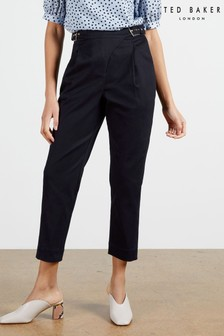 Ted Baker Blue Alaiina Tapered Trousers