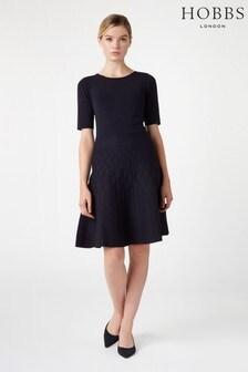 Hobbs Blue Orla Knitted Dress