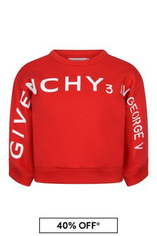 Girls Red Cotton Sweater