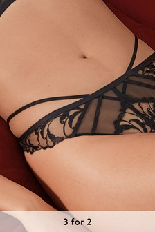 Luxurious Embroidered Thong