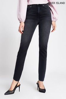 River Island Black Medium Brooke Slim Bonbon Jeans