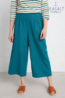 Seasalt Grey Breaking Waves Culottes
