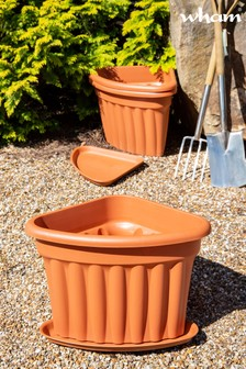 Set of 3 Vista 40cm Corner Tray And Garden Planters by Wham