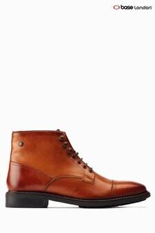 Base London® Tan Conrad Ankle Biker Boots