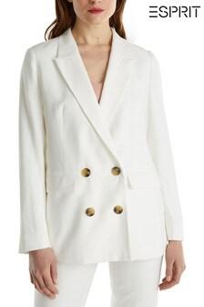 Esprit White Elegant Blazer