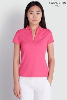 Calvin Klein Golf Pink Ness Cap Sleeve Polo