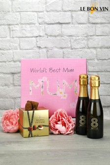 World Best Mum Prosecco And Truffles Gift Set by Le Bon Vin