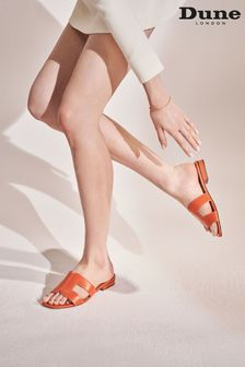 Dune London Orange Loupe Smart Slider Sandals