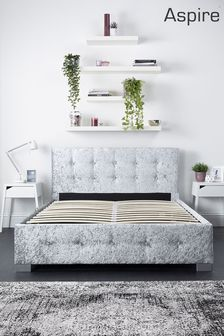 Aspire Side Lift Ottoman Fabric Bed Frame