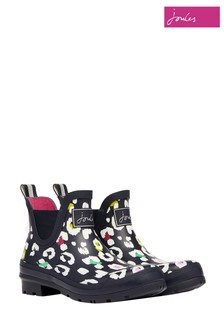 Joules Blue Wellibob Short Height Printed Wellies