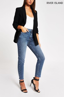 River Island Denim Medium Brooke Slim Peardrop Jeans