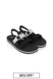 Girls Black Zuma Sling Sandals