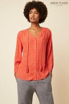 Great Plains Red Gianna Textured Shirt