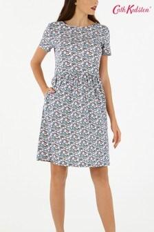 Cath Kidston® Blue Mews Ditsy Jersey Dress