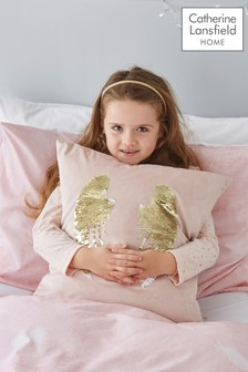 Angel Sequin Cushion by Catherine Lansfield