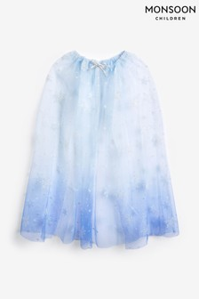 Monsoon Blue Frosted Wonderland Wings Cape
