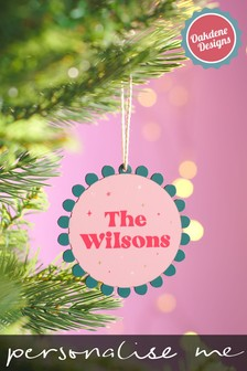 Personalised Family Bauble by Oakdene