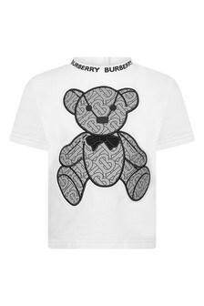 Baby Boys White Teddy T-Shirt
