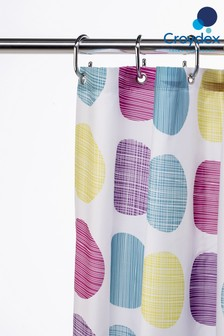 Croydex Textured Dots Shower Curtain