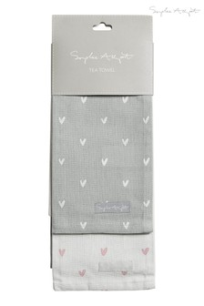 Set of 2 Sophie Allport Hearts Tea Towels