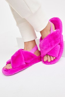 Crossover Platform Slider Slippers