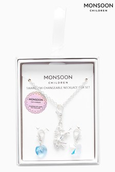 Monsoon Swarovski Changeable Necklace Box Set