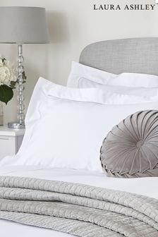 Set of 2 Laura Ashley Dove Grey Mayfair Pillowcases