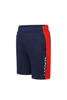 Lacoste Kids Boys Navy Cotton Shorts
