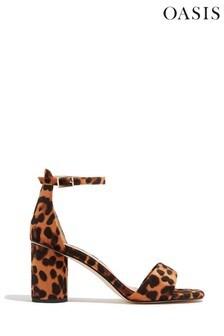 Oasis Animal Peep Toe Block Heels