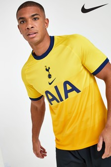 Nike Yellow Tottenham Hotspur Third 20-21 Football Shirt