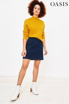 Oasis Blue Denim Mini Skirt