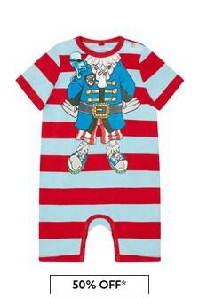 Stella McCartney Kids Baby Boys Red Cotton Romper