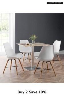Pisa Oak Dining Set by Julian Bowen
