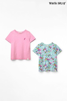 White Stuff Green Kids Parrots T-Shirts Two Pack