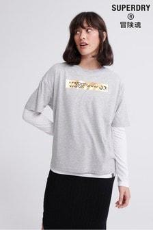 Superdry Brand Language City Box Fit T-Shirt