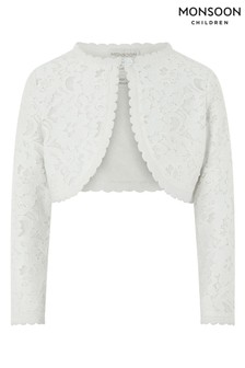 Monsoon Baby Eliona White Cardigan