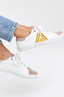 Lace-Up Triangle Trainers