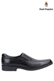 Hush Puppies Black Brody Slip-On Shoes