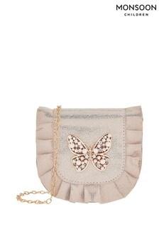 Monsoon Pink Venita Pearl Butterfly Bag